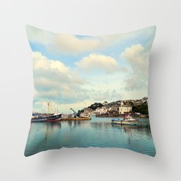 Brixham harbor 3 Throw Pillow
