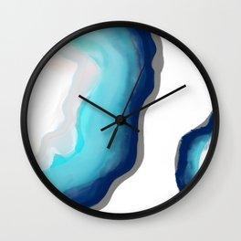 Aqua Agate Wall Clock