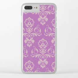 Purple Damask Clear iPhone Case