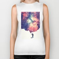 magic Biker Tanks featuring Painting the universe by badbugs_art
