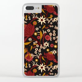 Australian Natives Red Blossom Clear iPhone Case