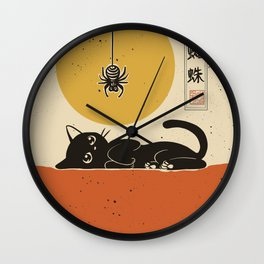 Spider came down Wall Clock