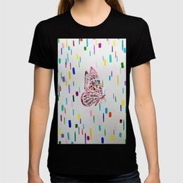 Colorful Fluttering Butterfly  T-shirt