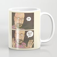 walter white Mugs featuring WALTER WHITE? by pizzariadofelix
