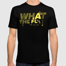 What the Fu MEDIUM Mens Fitted Tee Black