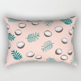 Little coconut garden summer surf palm leaves pink Rectangular Pillow
