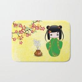 Sakura Kokeshi Doll Bath Mat