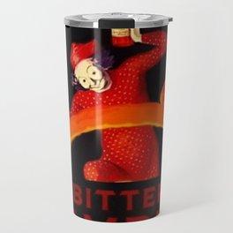 Classic Red Bitter Campari Aperitif Alcoholic Cordial Italian Advertising Vintage Poster Travel Mug