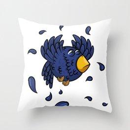 Just a bird that flies up Throw Pillow