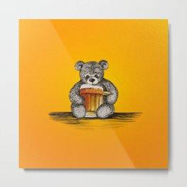 Teddy Beer Metal Print