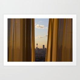 Sneaky City Sunset Art Print