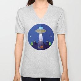 UFO Unisex V-Neck