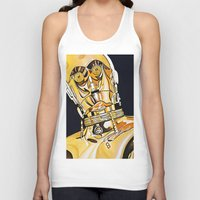 c3po Tank Tops featuring C3PO by Laura-A
