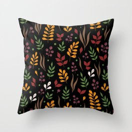 Happy leaves Throw Pillow