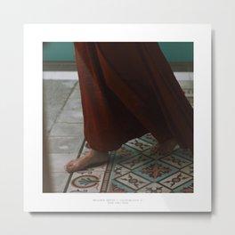 Piedi nudi, Palma Metal Print