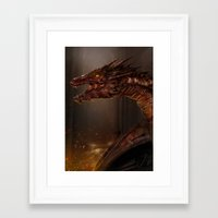 smaug Framed Art Prints featuring Smaug by Arkarti