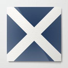 """NAUTICAL Boat Flag """"M"""" Metal Print"""