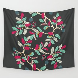Minty Pinky Branches Wall Tapestry