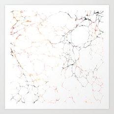 Marbled Cream 2 Art Print