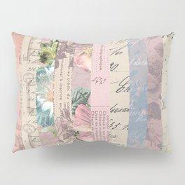 Vintage Shabby Florals Pillow Sham
