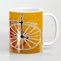 bike Mugs featuring Bike by CrismanArt