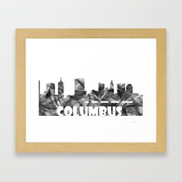 Columbus Skyline BG2 Framed Art Print