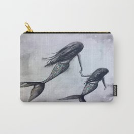 Mermaid Mommy and Daughter Carry-All Pouch