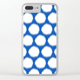 Sapphire Asian Moods Ikat Dots Clear iPhone Case