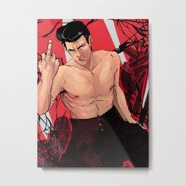 OPM - Metal Bat: Red Metal Print