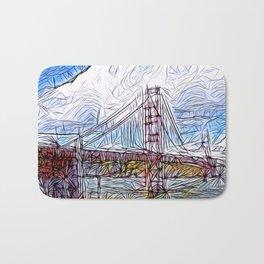 Golden Gate Bridge abstract Bath Mat