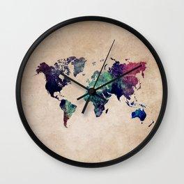 Cold World Map Wall Clock