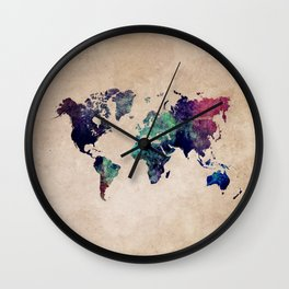 Cold World Map #map #worldmap Wall Clock