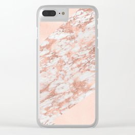 Massarossa rose gold marble - soft blush texture Clear iPhone Case