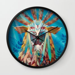 Low Poly Forest Spirit Wall Clock