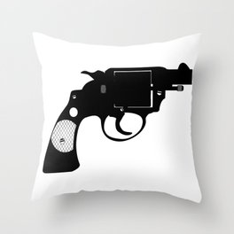 Detectives Revolver Throw Pillow
