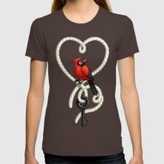 Love Bird Womens Fitted Tee LARGE Brown