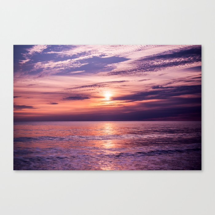 A Moving Sea Between The Shores Canvas Print