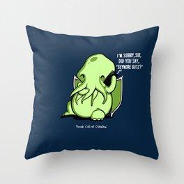 Prank Call of Cthulhu Throw Pillow