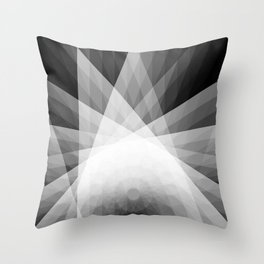A Receptive Mind is Connected BLK/WHT Throw Pillow