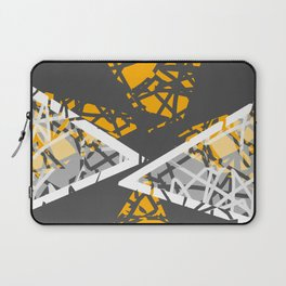 Converge - abstract art by Ann Powell Laptop Sleeve