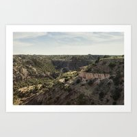palo alto Art Prints featuring Palo Duro Canyon Landscape by Will Milne
