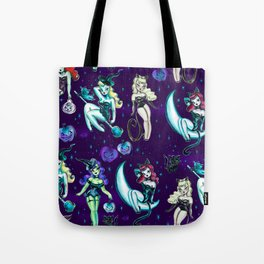 Witches and Black Cats Tote Bag