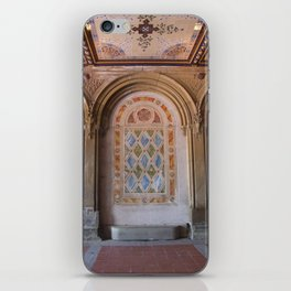 NYC Central Park at Bethesda Terrace iPhone Skin