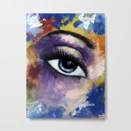 Title: Very Beautiful Eye painting Metal Print