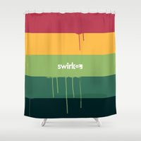 rasta Shower Curtains featuring Rasta Drips by Swirl Apparel