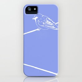 On a Blue Wire iPhone Case