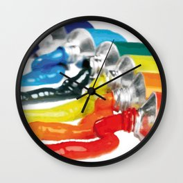 Rainbow color painting Wall Clock