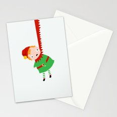 HANGING ELF Stationery Cards