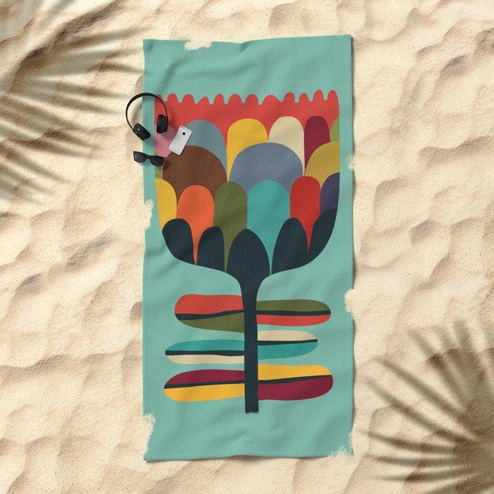 Flower Poet Beach Towel