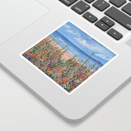 Summer Beach, Impressionism Seascape Sticker